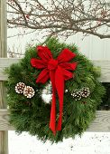 Christmas  Outdoor Wreath poster