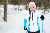 stock photo of nordic skiing  - Cross - JPG