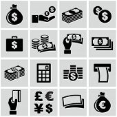 stock photo of coin bank  - Money icons set - JPG