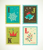 picture of nutcrackers  - Christmas alphabet with cute xmas icons - JPG