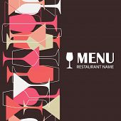 image of cocktail menu  - Restaurant or wine bar menu design - JPG
