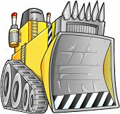 stock photo of bulldozer  - Apocalyptic Bulldozer Vector Illustration - JPG