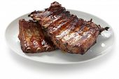 picture of baby back ribs  - barbecued pork spare ribs - JPG