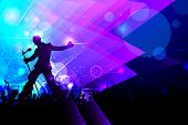 stock photo of rock star  - illustration of rock star performing in music concert - JPG