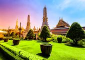 image of royal palace  - Bangkok luxurious royal palace and garden - JPG