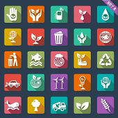 picture of trash truck  - Ecology icon set - JPG