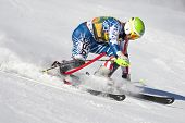 VAL D'ISERE FRANCE. 12-12-2010. MILLER Bode USA  straddles a control gate and is disqualified in the
