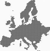 Europe Map Mosaic poster
