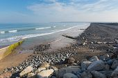 picture of devonshire  - Westward Ho beach and coastline Devon England - JPG