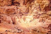 foto of empty tomb  - Ancient tombs in Petra - JPG