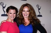 Melissa Claire Egan and Catherine Bach at the Daytime Emmy Nominees Reception presented by ATAS, Mon