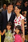 Ken Jeong and family at the