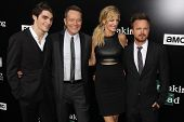 RJ Mitte, Bryan Cranston, Anna Gunn and Aaron Paul at the
