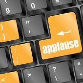 picture of applause  - Computer keyboard with applause key business concept - JPG