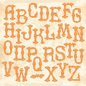 stock photo of hand alphabet  - Whimsical Hand Drawn Alphabet Letters - JPG