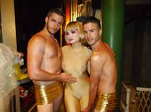 Rory Davis, Rena Riffel, Michael Phillis at the Peaches Christ SHOWGIRLS Night of 1000 Showgirls Eve