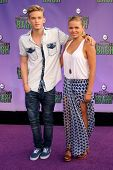Cody Simpson and Alli Simpson at the Hub Network First Annual Halloween Bash. Barker Hangar, Santa M