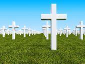 Постер, плакат: Geen земли кладбище