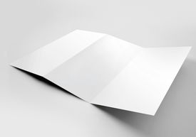 stock photo of pamphlet  - Blank trifold paper z - JPG