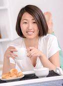 foto of bed breakfast  - Breakfast in bed - JPG