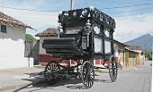 foto of hearse  - old funeral wagon granada - JPG