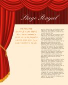 stock photo of curtains stage  - vector layout with sample text in separate layer - JPG