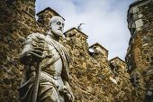 picture of parador  - Carlos V sculpture - JPG