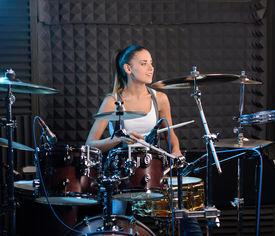 image of bonaparte  - Girl behind drum - JPG