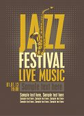 pic of saxophones  - Poster for the jazz festival with a saxophone - JPG