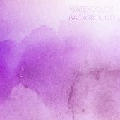 picture of purple white  - vector abstract purple watercolor background for your design - JPG