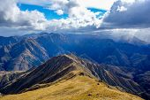 pic of southern  - View to Southern Alps from Ben Lomond Track Queenstown New Zealand - JPG