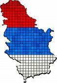 image of serbia  - Mosaic flag of Serbia - Serbia national flag,  Abstract Mosaic Grunge Serbia Flag, - JPG