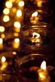image of wesak day  - Wesak Day Celebration candle in a row - JPG
