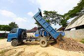 picture of dumper  - dumper truck on construction site - JPG