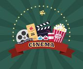 foto of pop star  - Collection of cinema industry symbols - JPG