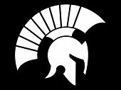 picture of sparta  - helmet vector logo caesar and spartan style - JPG