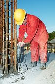 Worker Builder And Concrete Formwork poster