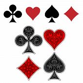 picture of four  - Playing card suit icons - JPG