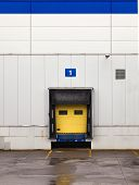 image of loading dock  - Loading dock at a warehouse - JPG