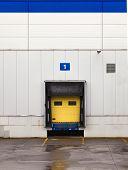foto of loading dock  - Loading dock at a warehouse - JPG