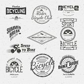 picture of bicycle gear  - Bicycle badges logos and labels for any use - JPG