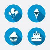foto of ice-cake  - Birthday party icons - JPG