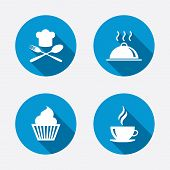picture of chefs hat  - Food and drink icons - JPG