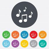 picture of music symbol  - Music notes sign icon - JPG