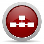 picture of cisco  - database red glossy web icon  - JPG