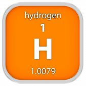 pic of hydrogen  - Hydrogen material on the periodic table - JPG