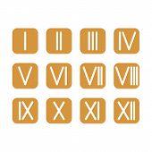 picture of roman numerals  - Set Roman numerals 1 - JPG