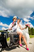 image of scooter  - Wedding concept - JPG