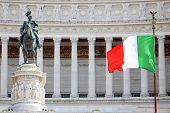 picture of emanuele  - The Piazza Venezia Vittorio Emanuele Monument for Victor Emenuel II in Rome Italy - JPG