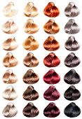 pic of hair dye  - Hair Palette samples of different colors - JPG